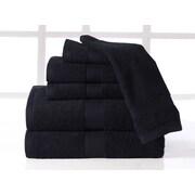 Affinity Linens Supersoft Plush 6 Piece Towel Set; Onyx