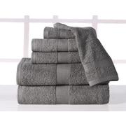 Affinity Linens Supersoft Plush 6 Piece Towel Set; Platinum