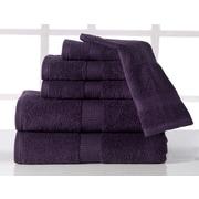 Affinity Linens Supersoft Plush 6 Piece Towel Set; Plum