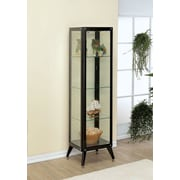 Hokku Designs Avery Display Cabinet; Black