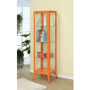 Hokku Designs Avery Display Cabinet; Orange