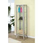 Hokku Designs Avery Display Cabinet; Silver