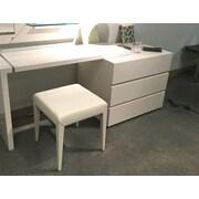 Argo Furniture Modena Vanity Stool; Beige