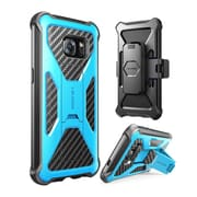 i-Blason Prime Series Kickstand Case with Belt Clip Holster for Samsung Galaxy S7 Edge - Blue