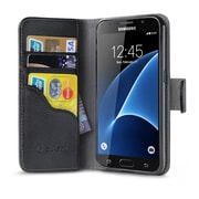 i-Blason Synthetic Wallet Case for Samsung Galaxy S7 - Black
