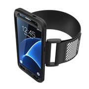 SUPCASE Easy Fitting Sport Armband and Flexible Case Combo for Samsung Galaxy S7 - Black