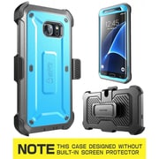 SUPCASE Unicorn Beetle Series Pro Fullbody Protection Case with Screen Protector & Holster for Samsung Galaxy S7 Edge, Blue