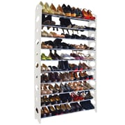Linen Depot Direct 10-Tier Shoe Rack; White