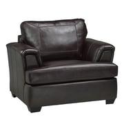 Coja Royal Cranberry Italian Leather Arm Chair