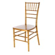 Commercial Seating Products Max Series Resin Chiavari Side Chair; Gold