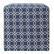 Jennifer Taylor William Accent Ottoman; Navy Blue