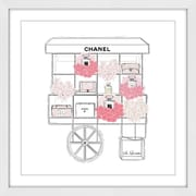 Marmont Hill 'Fashion Cart' by Loretta So Framed Painting Print; 24'' H x 24'' W x 1.5'' D