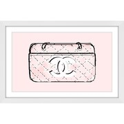 Marmont Hill 'Pink Bag' by Loretta So Framed Painting Print; 24'' H x 36'' W x 1.5'' D