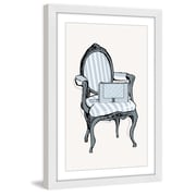 Marmont Hill 'Striped Chair' by Loretta So Framed Painting Print; 36'' H x 24'' W x 1.5'' D