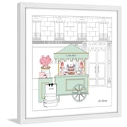 Marmont Hill ''Laduree Cart 2'' by Loretta So Framed Painting Print; 40'' H x 40'' W x 1.5'' D