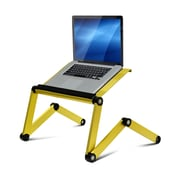 Wildon Home   Vented Laptop Table / Portable Bed Tray Book Stand; Gold