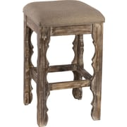 Hillsdale Carrara 24'' Bar Stool with Cushion; Whitewash