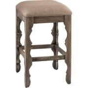 Hillsdale Carrara 24'' Bar Stool with Cushion; Graywash