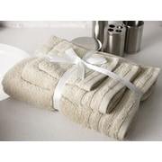 Flato Home Edged Terry 3 Piece Towel Set; Beige