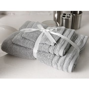 Flato Home Edged Terry 3 Piece Towel Set; Grey