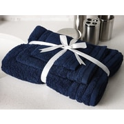 Flato Home Edged Terry 3 Piece Towel Set; Navy