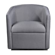 Container Swivel Barrel Chair; Gray