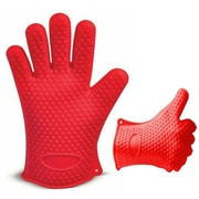 Kitch N' Wares Grill Gloves; Red