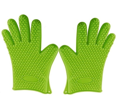 Kitch N' Wares Grill Gloves; Green WYF078279153525