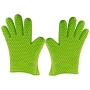 Kitch N' Wares Grill Gloves; Green