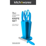Kitch N' Wares 7 Piece Knife Set; Blue