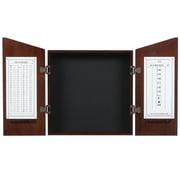RAM Game Room Wood Dartboard Cabinet; Cappuccino