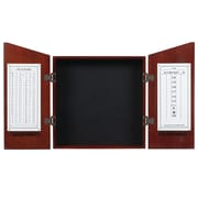RAM Game Room Wood Dartboard Cabinet; English Tudor