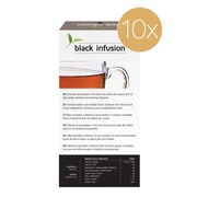 Gourmesso Coffee, Black Infusion TEA pods 10pack, 100 Nespresso compatible tea capsules (20312)