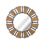 Sagebrook Home Wood Mirror w/ Metal Accents