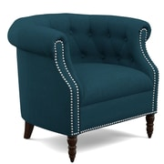 Handy Living Chesterfield Chair; Peacock Blue