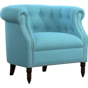 Handy Living Chesterfield Chair; Turquoise Blue