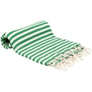 Buldano Turkish Peshtemal Fouta Bath Towel; Green