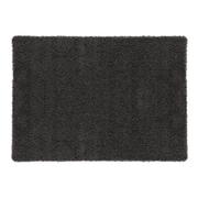 sweet home stores Cozy Shag Machine Woven Mat; Charcoal Grey