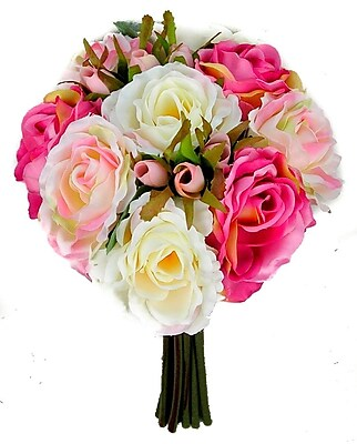 AdmiredbyNature 11 Stems Artificial Rose Bouquet; Bouquet