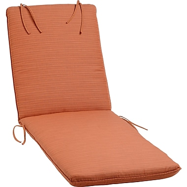 Oxford Garden Outdoor Sunbrella Chaise Lounge Cushion; Dupione Papaya