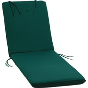 Oxford Garden Outdoor Sunbrella Chaise Lounge Cushion; Hunter