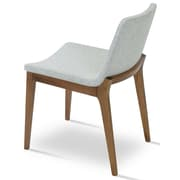 sohoConcept Nevada Wood Side Chair; Leatherette - Light Gray