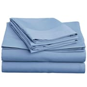 Off To Bed 1500 Thread Count Twin Sheet Set; Serenity Blue