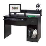 OneSpace Essential Computer Desk with Pull-out Keyboard; Black