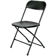 Commercial Seating Products Poly Armless Stacking Chair; Black