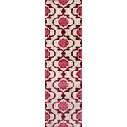 World Rug Gallery Loft Pink/Red Area Rug; Runner 2' x 7'2''