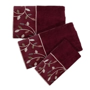 Popular Bath Products Aubury 3 Piece Towel Set; Burgundy