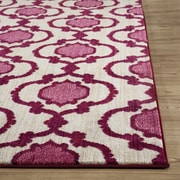 World Rug Gallery Loft Pink/Red Area Rug; 5'3'' x 7'3''