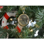 Handcrafted Nautical Decor Brass Emerson Poem Compass Christmas Tree Ornament