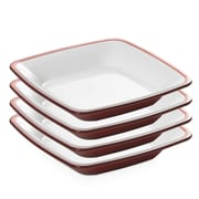 Lorren Home Trends Omada Melamine Soup Bowl (Set of 4); Red